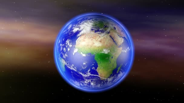 Earth Zoom to Africa on globe