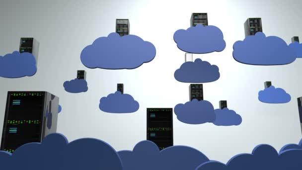 computing kreatív koncepció felhőben szerverek