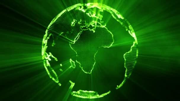 Leuchtende 3d Globus Herumwirbeln Erde