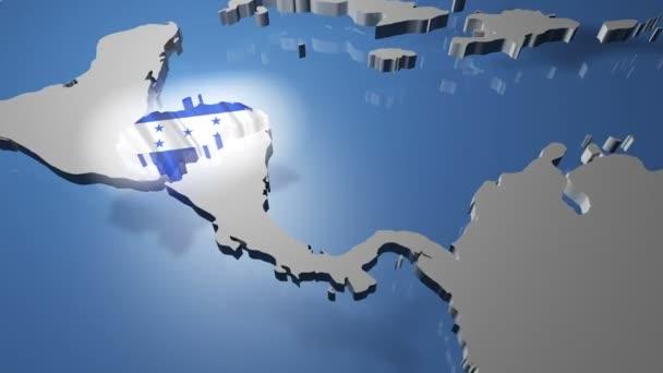 Honduras With Flag On World Map Stock Video C Boscorelli 70924213