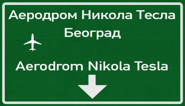 Belgrade Serbia Airport Highway Sign