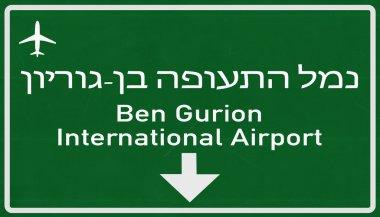 Tel Aviv Israel Airport Highway Sign