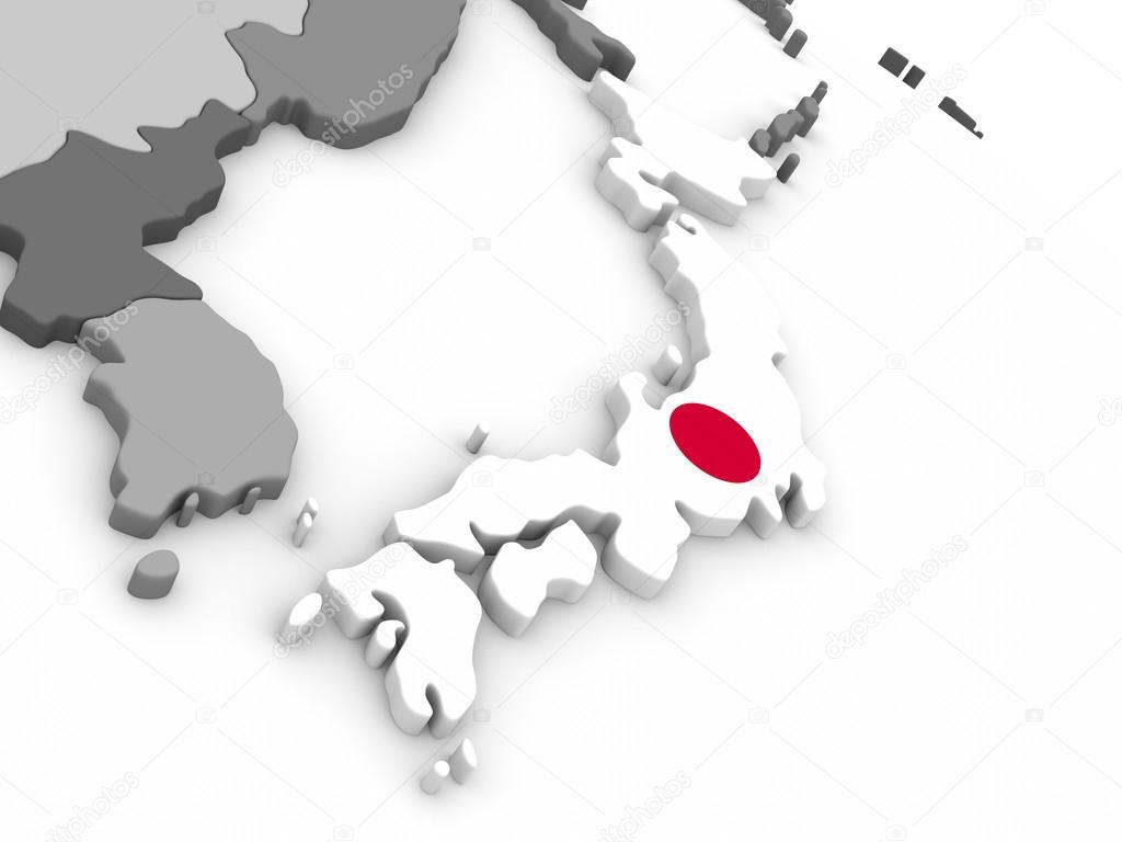 Japan On Globe With Flag Stock Photo Tomgriger - Japan map 3d