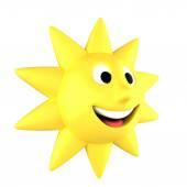 žluté slunce usmívá