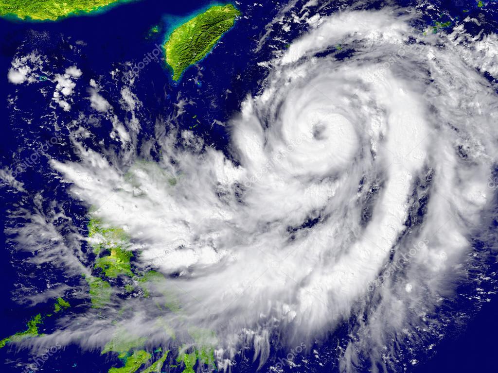 Hurricane approaching Southeast Asia