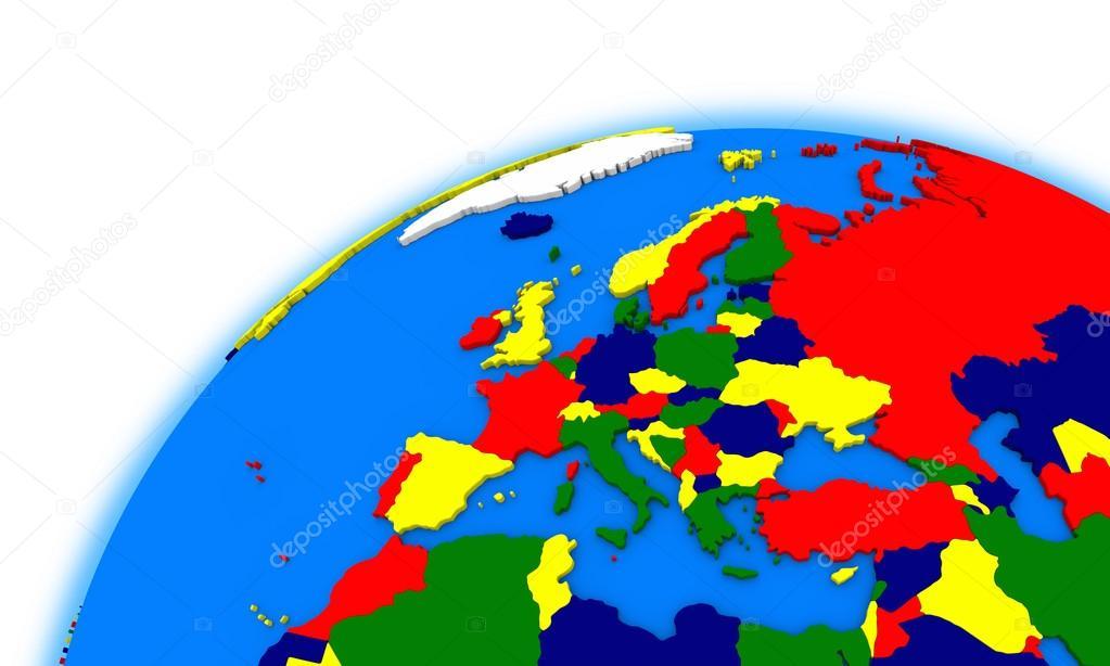 Karta Varlden Europa.Europa Pa Globe Politiska Karta Stockfotografi C Tom Griger 84362022