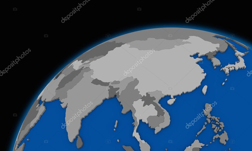 Southeast Asia On Planet Earth Political Map Stock Photo Tom - Earth political map