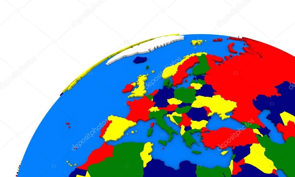 Europe On Earth Political Map Stock Photo Tomgriger - Earth political map