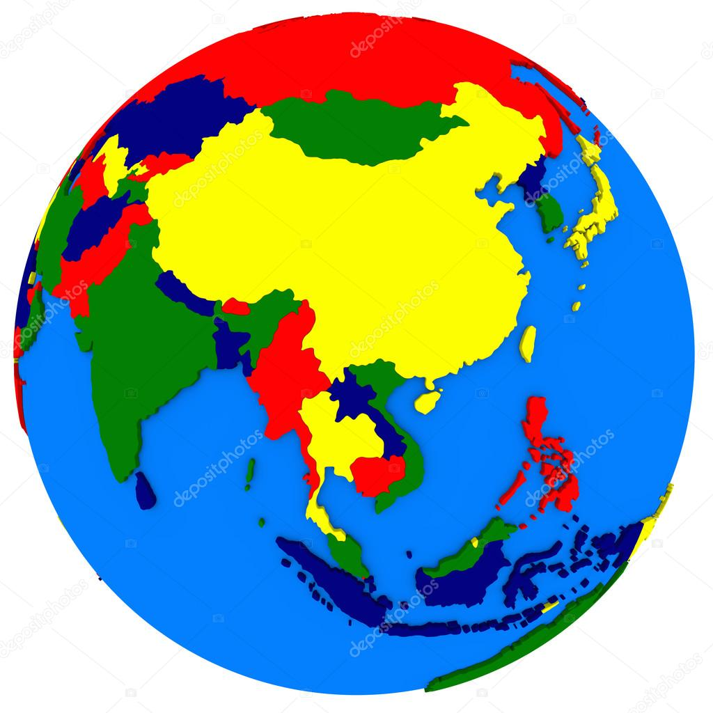 Political Map Of Southeast Asia.Southeast Asia On Political Map Stock Photo C Tom Griger 85781636