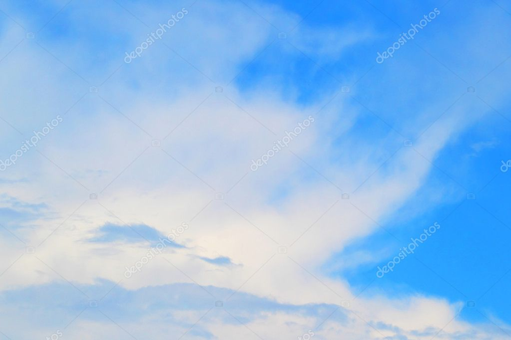 Background of the blue sky