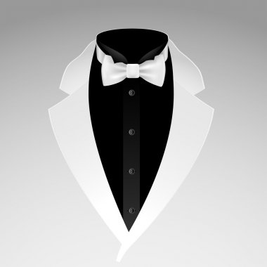 Illustration of tuxedo with bow tie