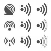 Fotografie WiFi sady ikon