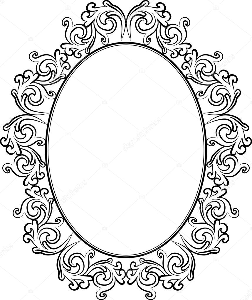 antique frame drawing. Antique Frame - Vector Illustration \u2014 Stock Vector Antique Frame Drawing