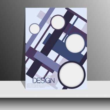 Magazine cover with pieces of colored paper for brochures, flyers, books, albums, booklets, leaflets, posters, advertising, magazine, vector