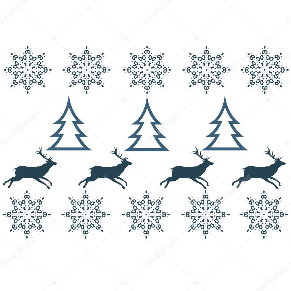 patrones sin fisuras con diseño de invierno suéter - ciervo, copo de ...