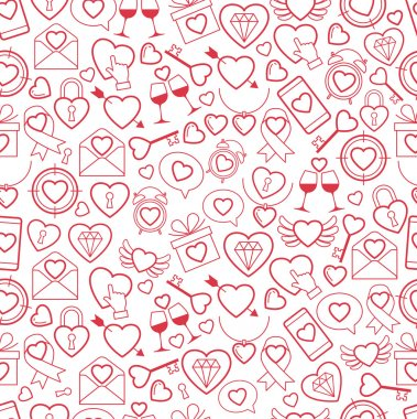 Heart for Valentines Day pattern. vector illustration clip art vector