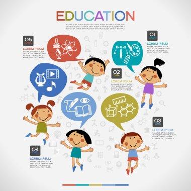 education Infographics  background