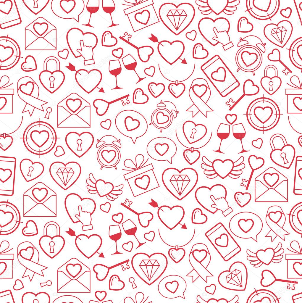 Heart for Valentines Day pattern. vector illustration clipart vector