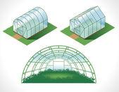 Készlet elszigetelt üvegházak