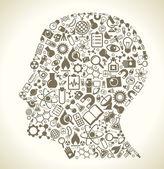 Fotografie Věda ikony v hlavě