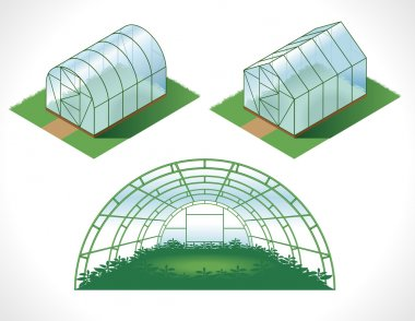 Set of isolated greenhouses
