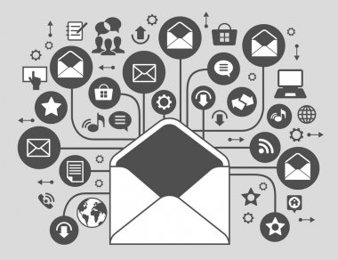Internet mail concept. envelope and