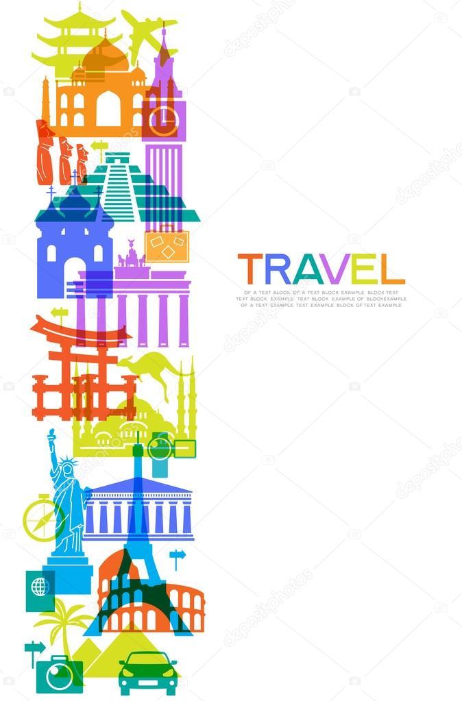 유명한 국제 랜드마크 아이콘 — 스톡 벡터 © VLADGRIN #123650734
