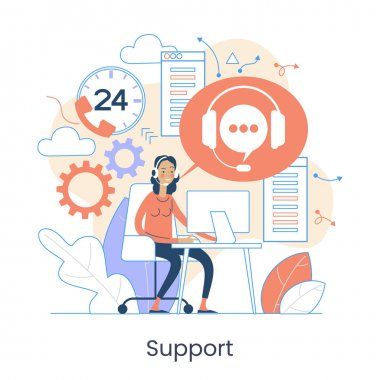 Website menu help concept. Online guides. Support landing page sections. Frequently asked Questions. Metaphor contact us. Help user interface. icon