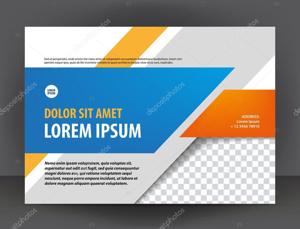 diploma design print template brochure stock vector © irinaww  vector modern light gray orange and blue certificate or diploma design print template brochure vector by irinaww