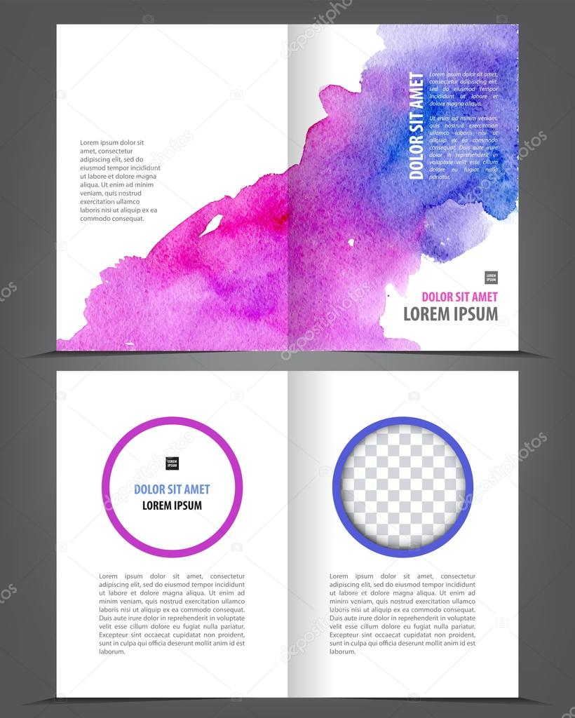 free blank bi fold brochure template