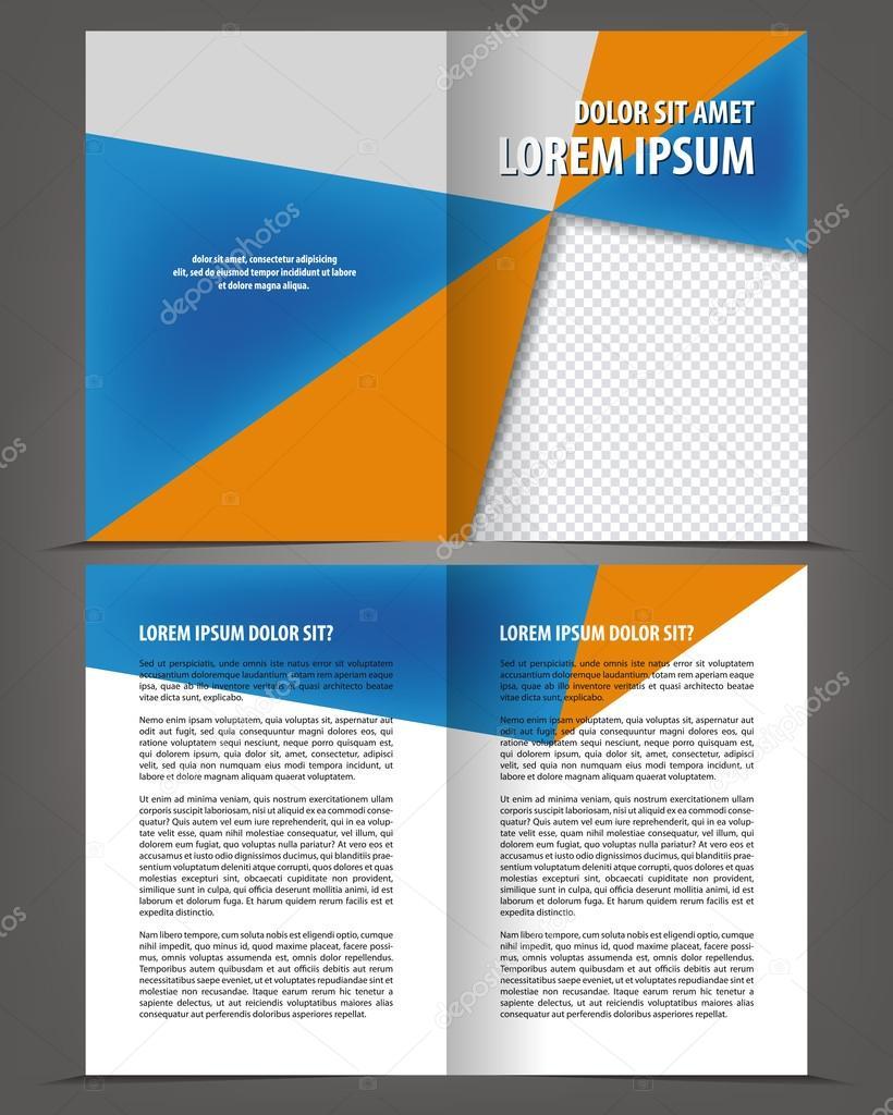 Bi-Fold Broschüre Druckvorlage design — Stockvektor © IrinaWW #54585227