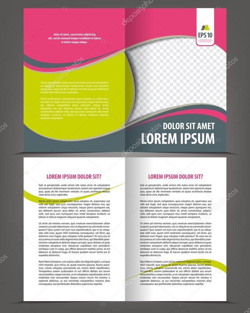 Bi-Fold Broschüre Druckvorlage design — Stockvektor © IrinaWW #54585261
