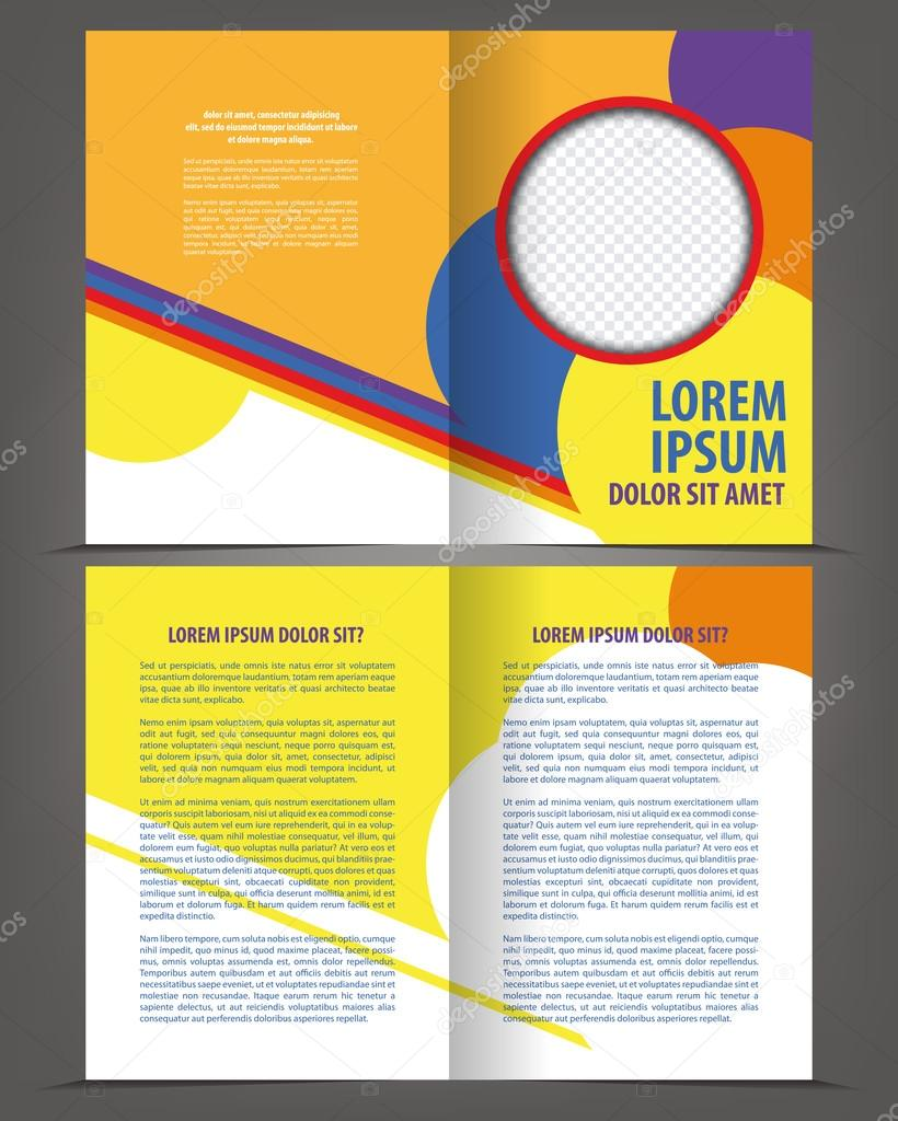 Bi-Fold Broschüre Druckvorlage design — Stockvektor © IrinaWW #54585321