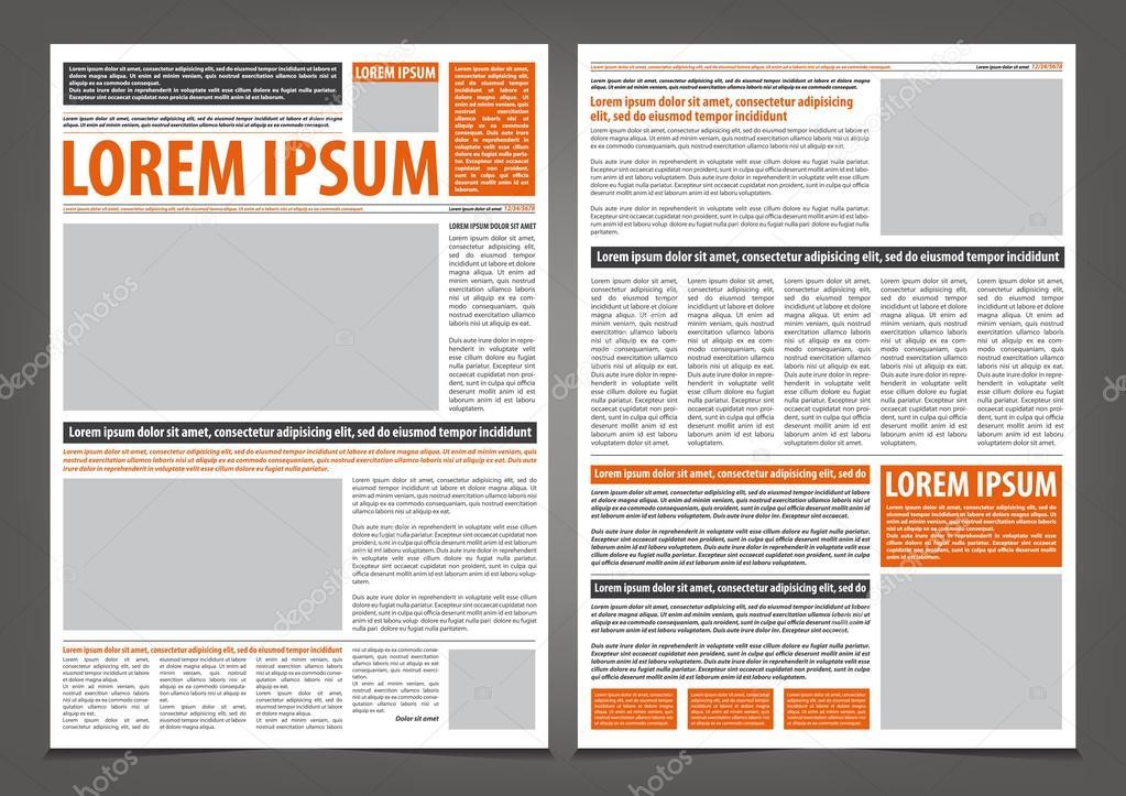 Newspaper print template design