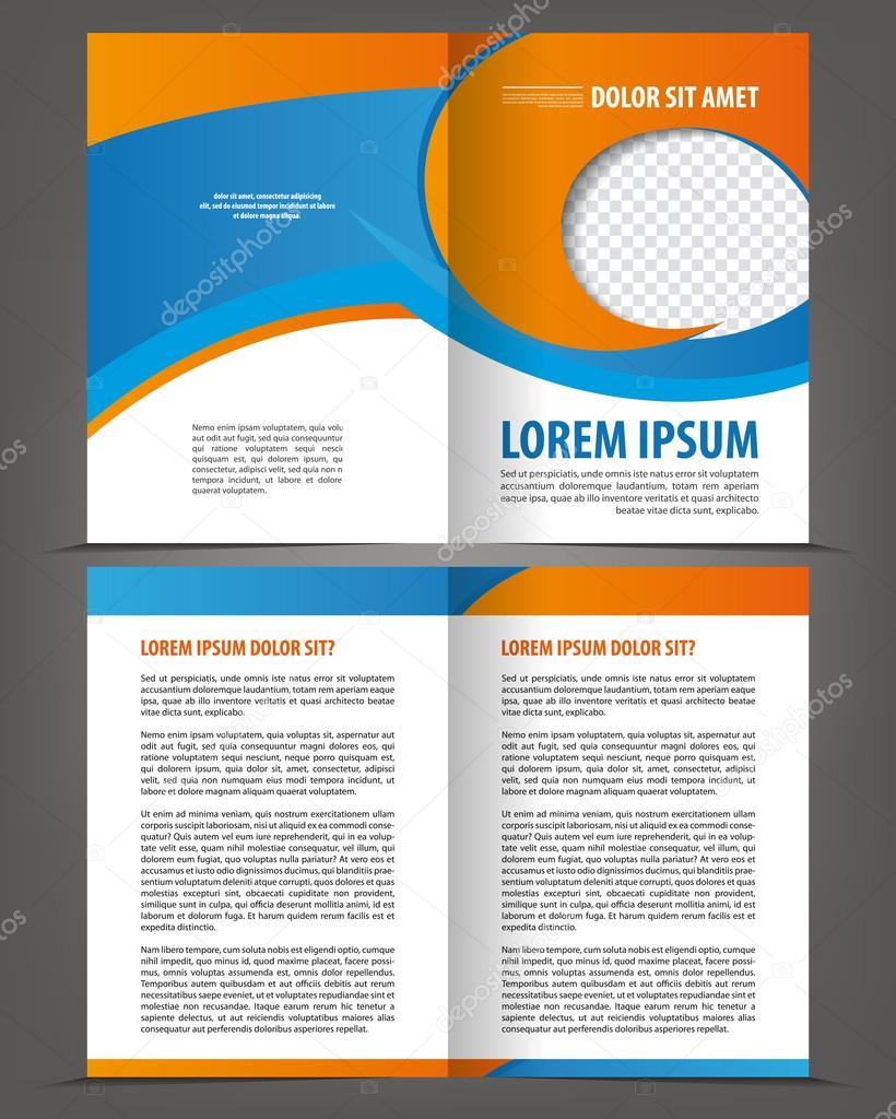 Bi-Fold Broschüre Druckvorlage design — Stockvektor © IrinaWW ...