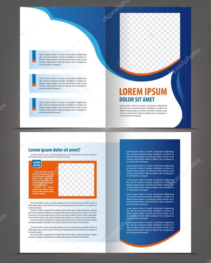 leere Bi-Fold Broschüre Druckvorlage — Stockvektor © IrinaWW #56463907