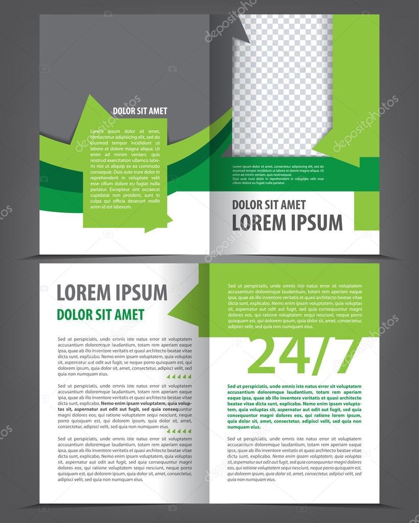 Broschüre-Druckvorlage — Stockvektor © IrinaWW #58136107
