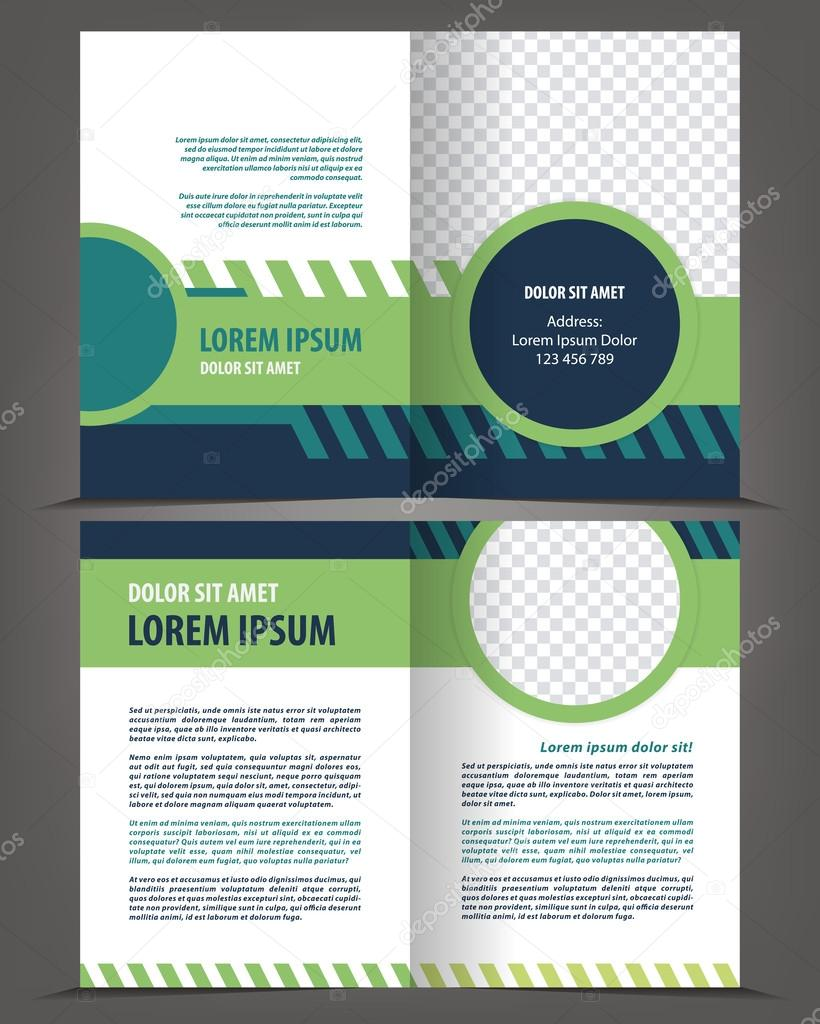leere Broschüre Druckvorlage design — Stockvektor © IrinaWW #61485323