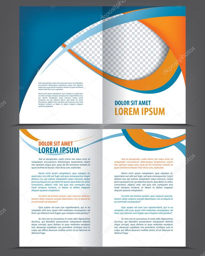 empty bifold brochure template stock vector irinaww 63687811