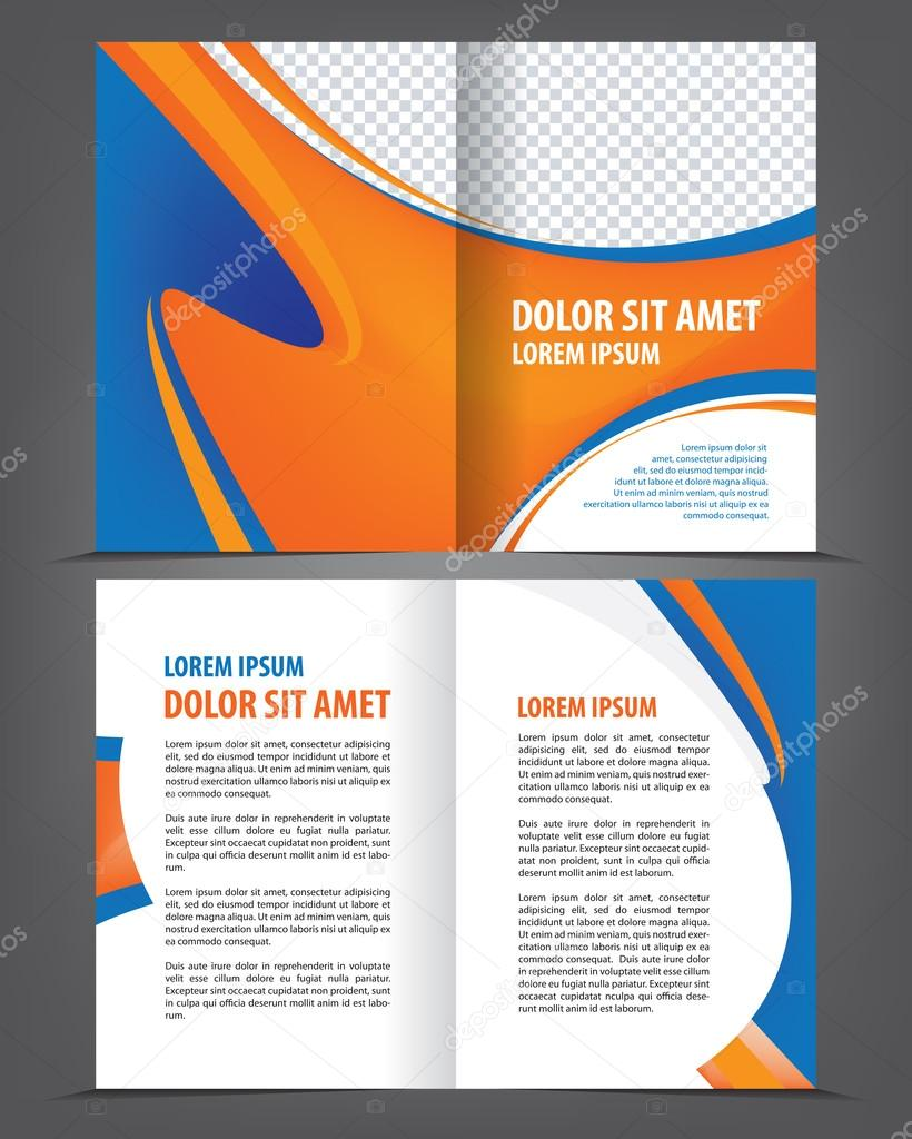Empty Bifold Brochure Template Design Stock Vector IrinaWW - Bifold brochure template