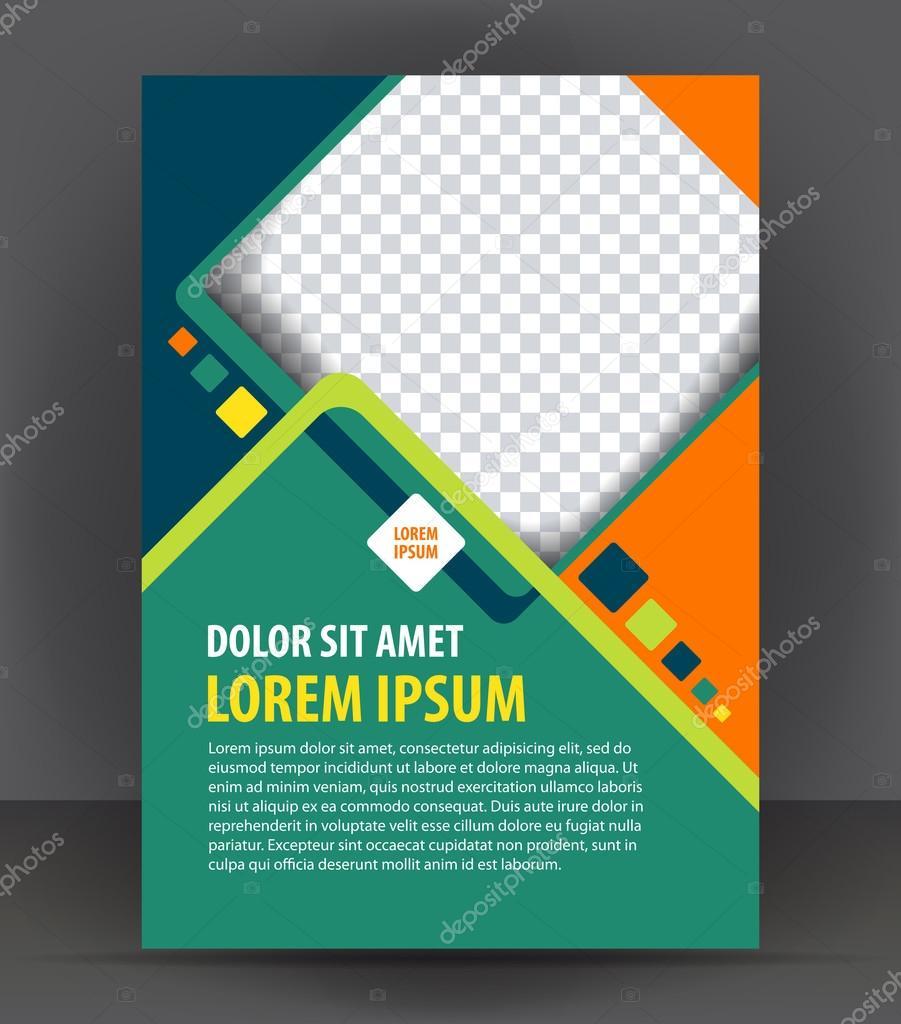 Bunte Design Broschüre Druckvorlage — Stockvektor © IrinaWW #77134233