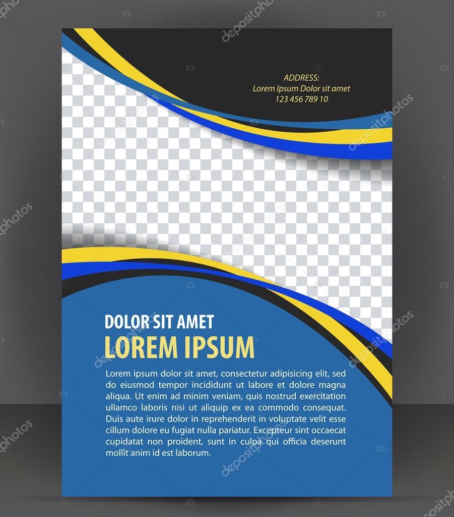 Vektor leer Broschüre Druckvorlage design — Stockvektor © IrinaWW ...