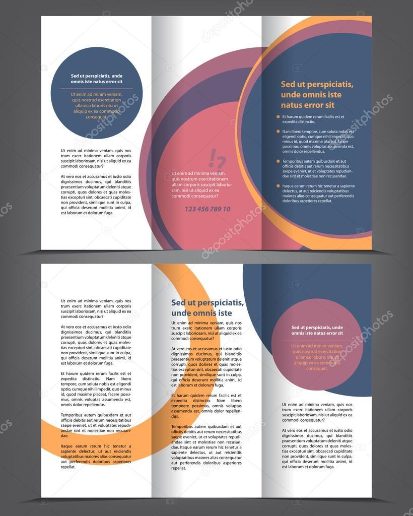 leere dreifach gefaltete Broschüre Druckvorlage — Stockvektor ...