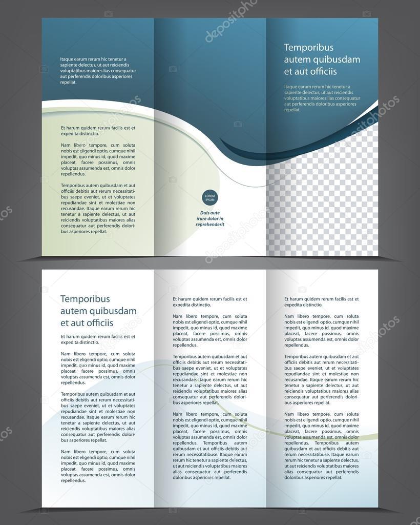 leere dreifach gefaltete Broschüre Druckvorlage design — Stockvektor ...