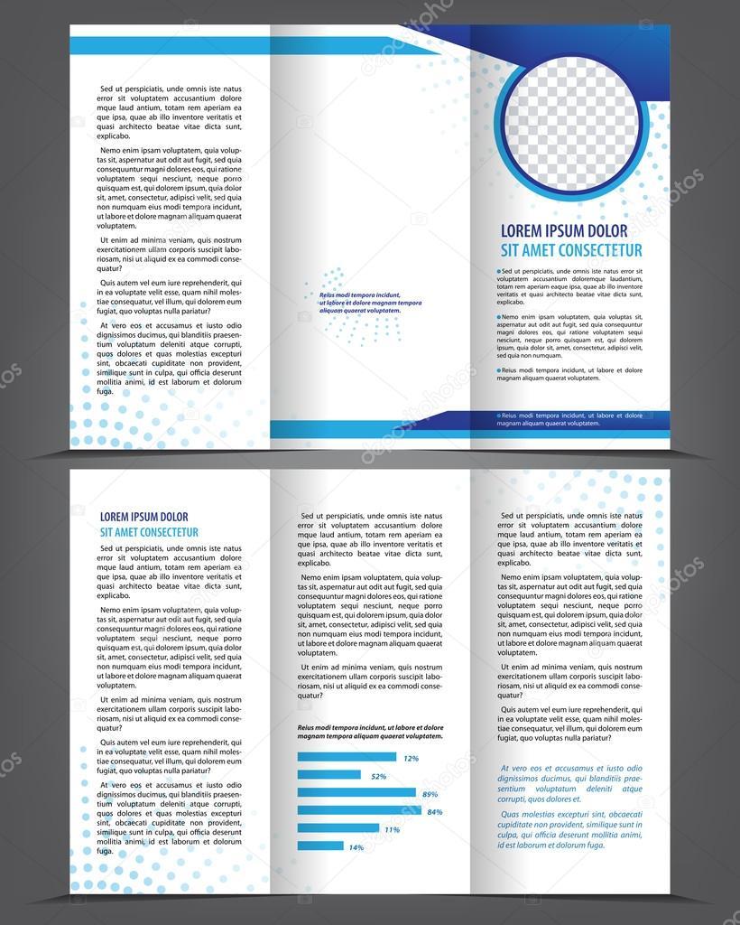 diseño de plantillas impresión de folleto tríptico vacío — Archivo ...