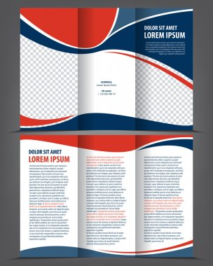 trifold bright booklet or flyer