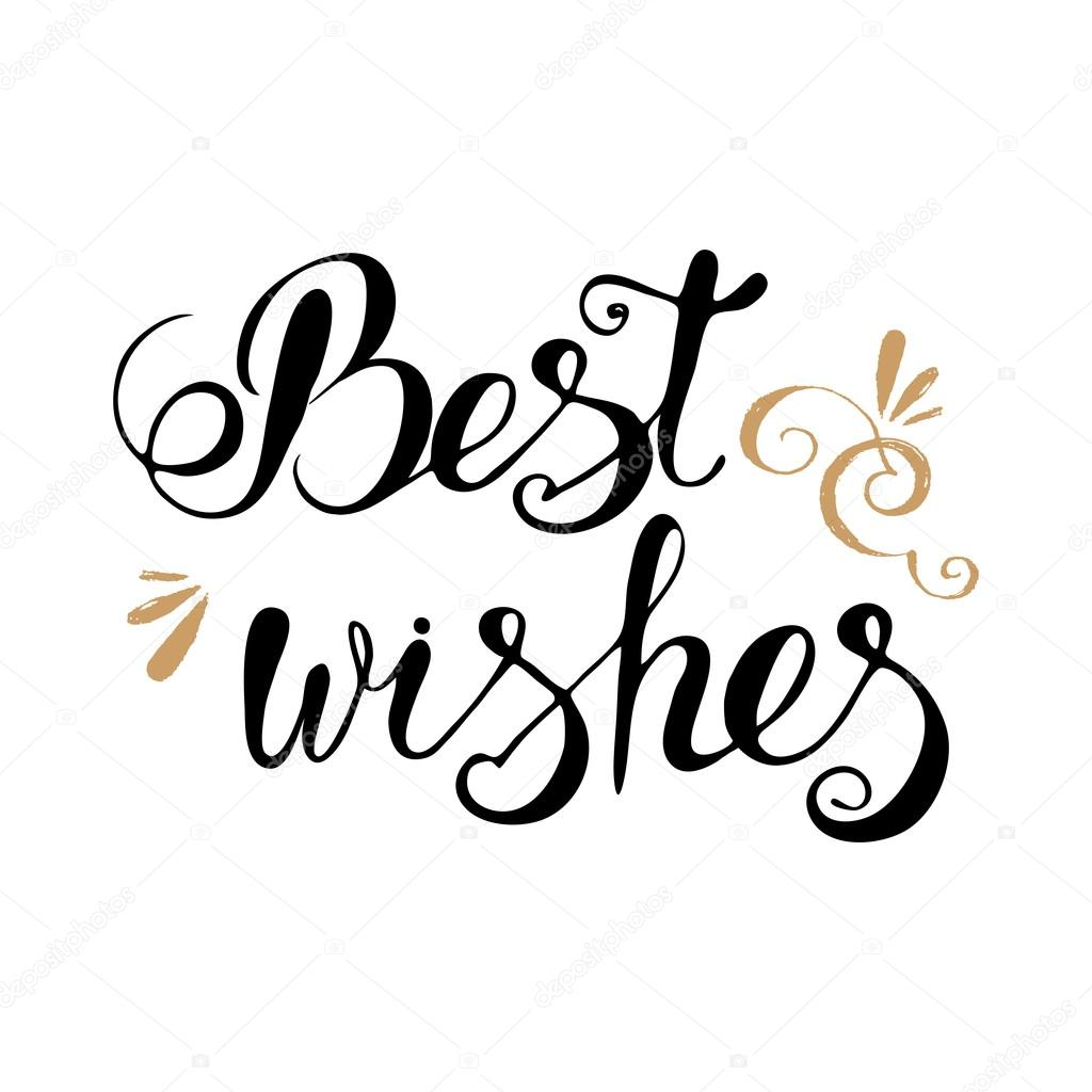 Best wishes lettering — Stock Vector © IrinaWW #98935040