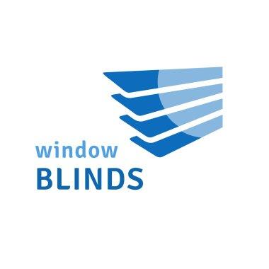 Window blinds logo