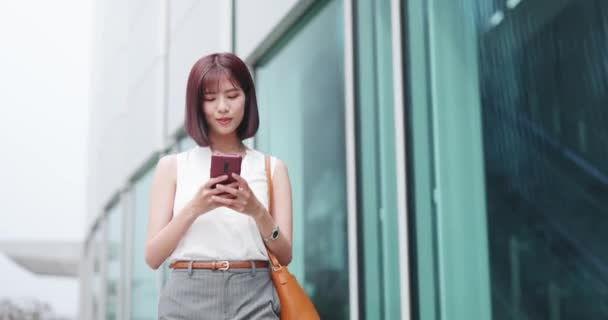 businesswoman use smart phone