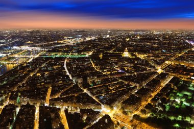 "Картина, постер, плакат, фотообои ""ночная панорама парижа печать"", артикул 57471591"